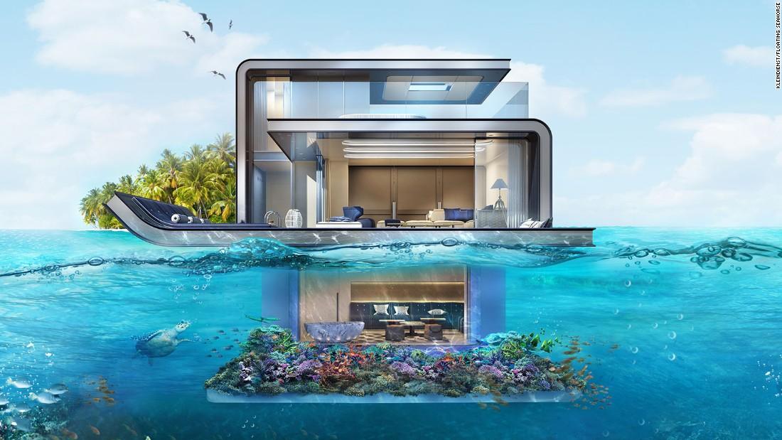 Nextlevel Underwater Villas Are Making Waves CNN Style - These amazing floating villas have underwater bedrooms