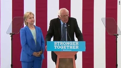 bernie sanders hillary clinton election bringing people together sot_00024603
