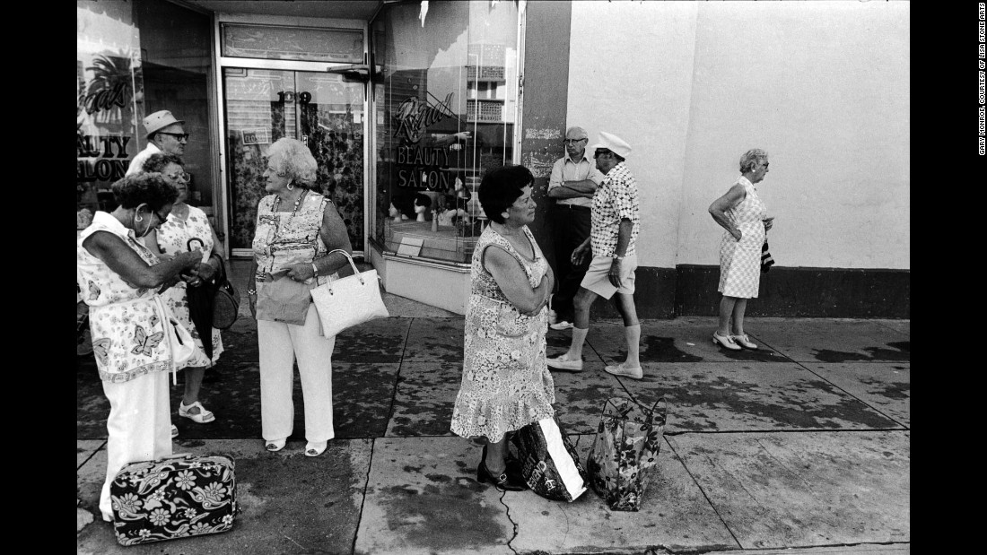 "People at 10th Street and Washington Avenue in 1979. ""Conversations were often centered around Israel, grandchildren and local politics,"" Monroe said."