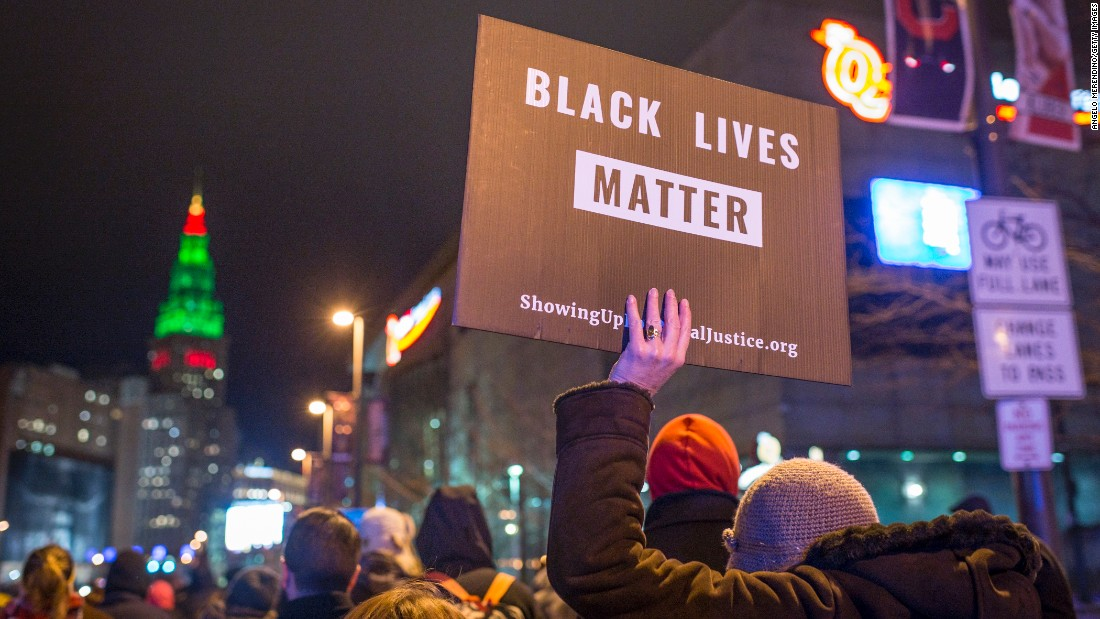 "Black Lives Matter demonstrators march in Cleveland on December 29, 2015, after a grand jury <a href=""http://www.cnn.com/2015/12/28/us/tamir-rice-shooting/"" target=""_blank"">declined to indict Cleveland Police officer</a> Timothy Loehmann for the fatal shooting of Tamir Rice on November 22, 2014."