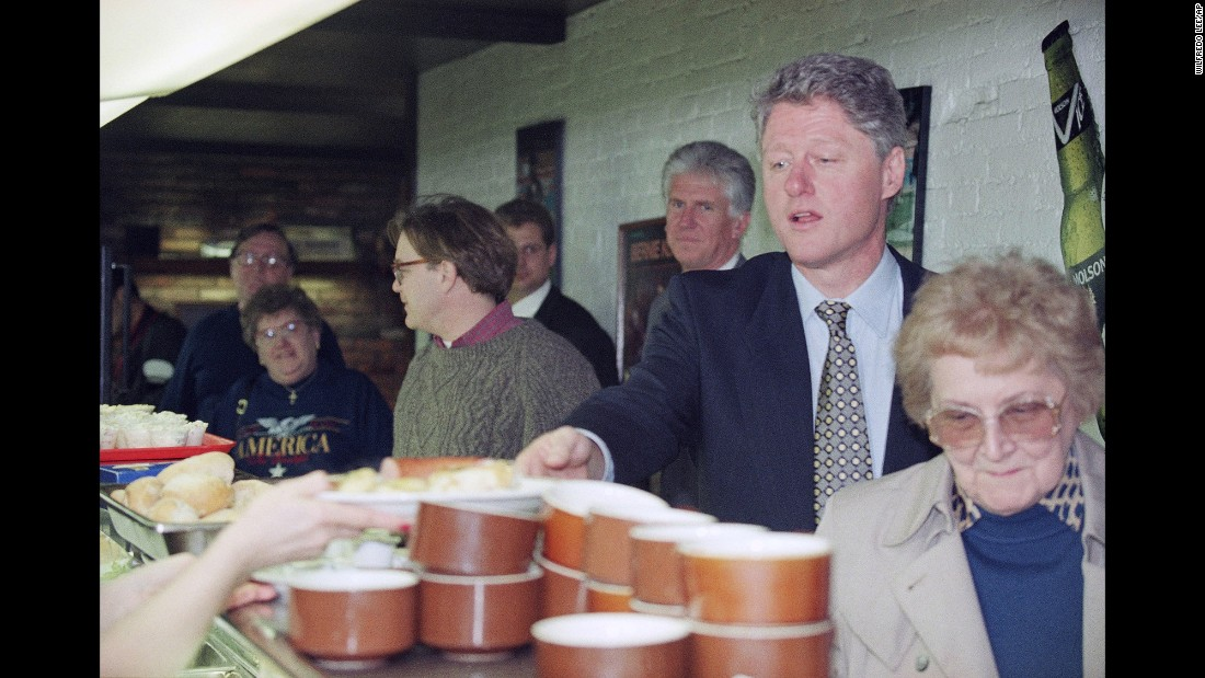 President Bill Clinton got lunch at Cleveland's Sokolowski's University Inn in 1995, while he was in town for a conference.