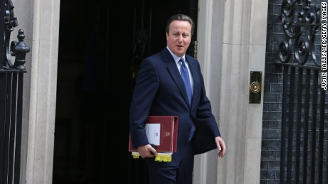 Britain's outgoing Prime Minister David Cameron leaves 10 Downing Street in central London, on July 13, 2016, as he prepares to address his last Prime Minister's Question Time at the House of Commons. Theresa May will become Britain's second ever female prime minister on Wednesday July 13, 2016, when David Cameron steps down after a seismic referendum to leave the European Union that sent shockwaves round the world and wrecked his career. / AFP / JUSTIN TALLIS        (Photo credit should read JUSTIN TALLIS/AFP/Getty Images)