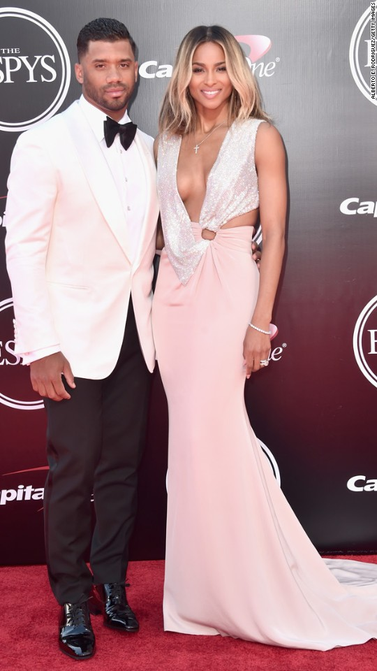 Russell Wilson and his wife, Ciara