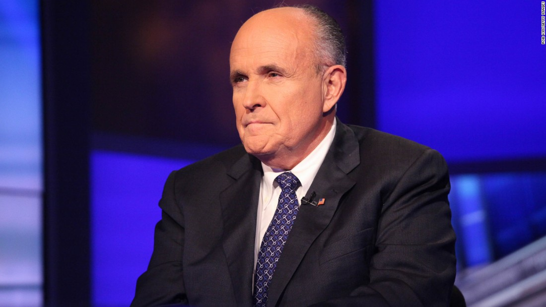 Former New York City mayor Rudy Giuliani