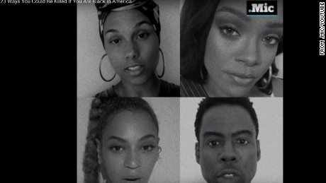 "Celebrities came together to film ""23 Ways You Could Be Killed if You are Black in America."""
