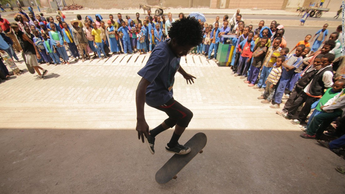 With the help of Make Life Skate Life, an NGO that helps build concrete skate parks around the world, young Ethiopians have built themselves the country's first skate park, in Addis Ababa.
