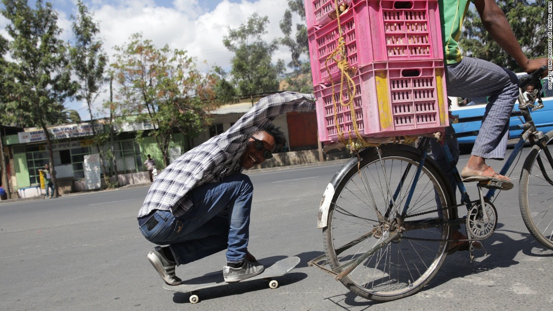 Around 150 members make up street collective Ethiopia Skate.