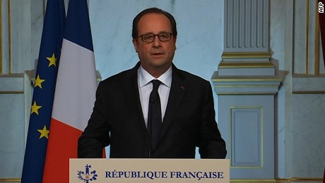 French president: Horror has struck France