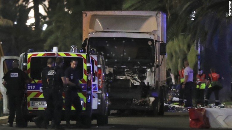 Truck rams crowd in Nice, France