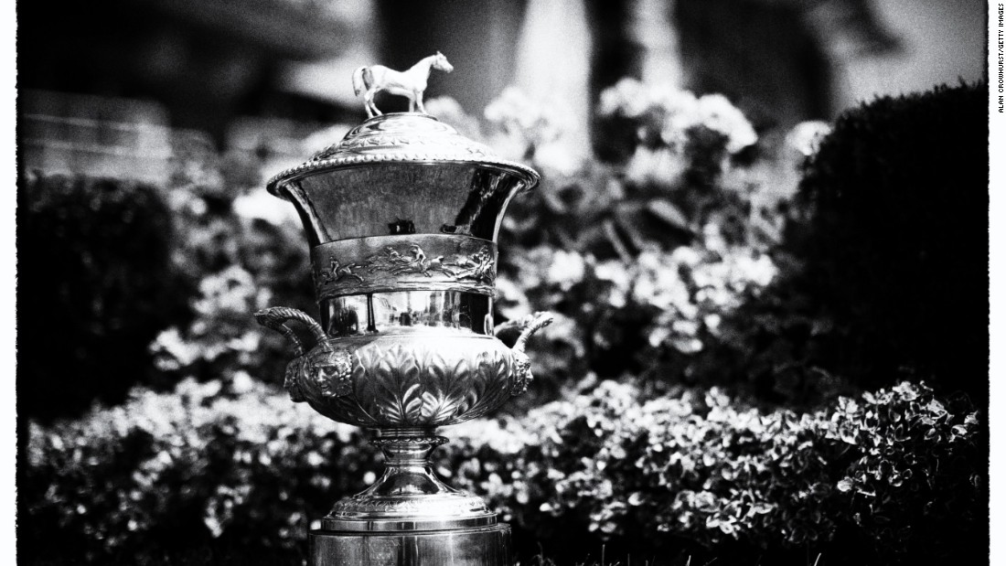 My Dream Boat is pictured winning the Prince of Wales's Stakes, scooping this trophy and a $1 million prize. The race was created in honor of Prince Albert in 1862.