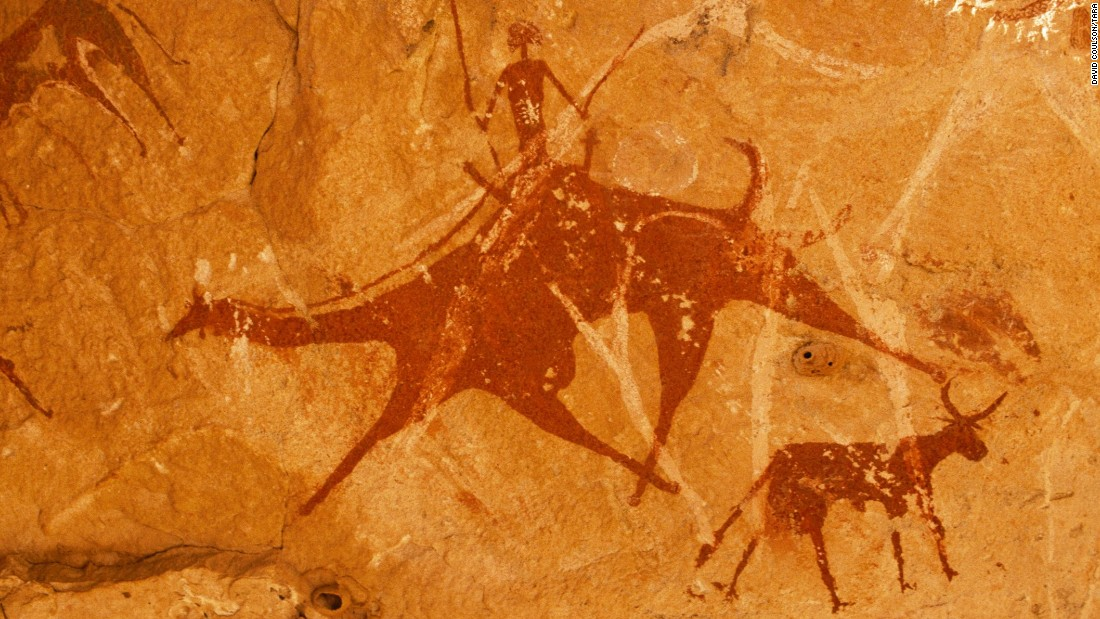 Artworks also reveal early domestication of camels in Chad.