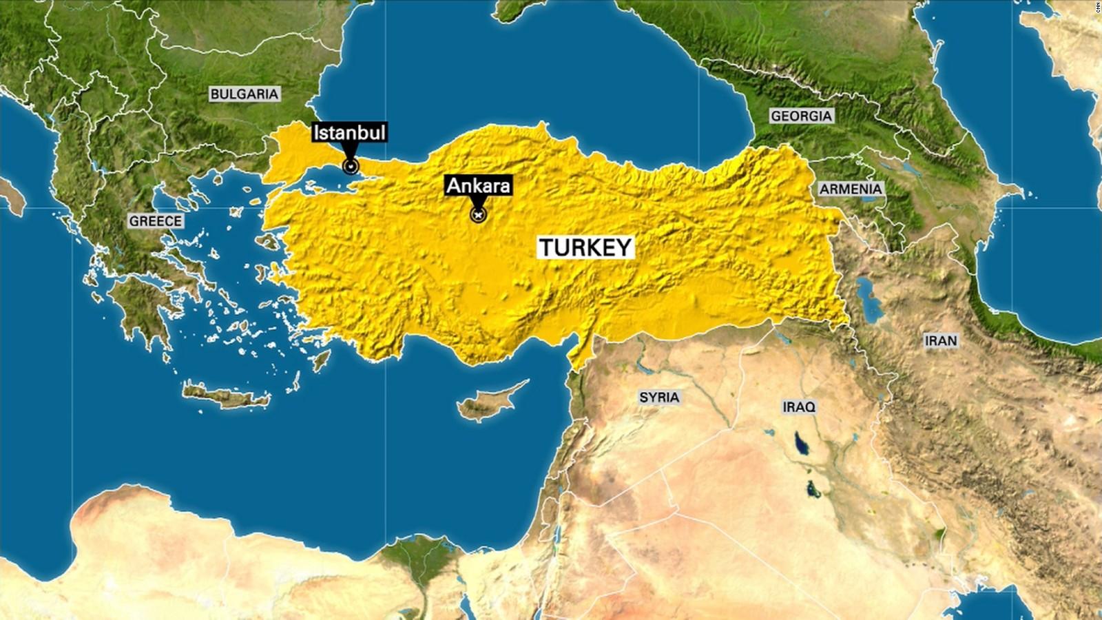 Turkish PM Military Taking Illegal Action CNN Video - Turkey map