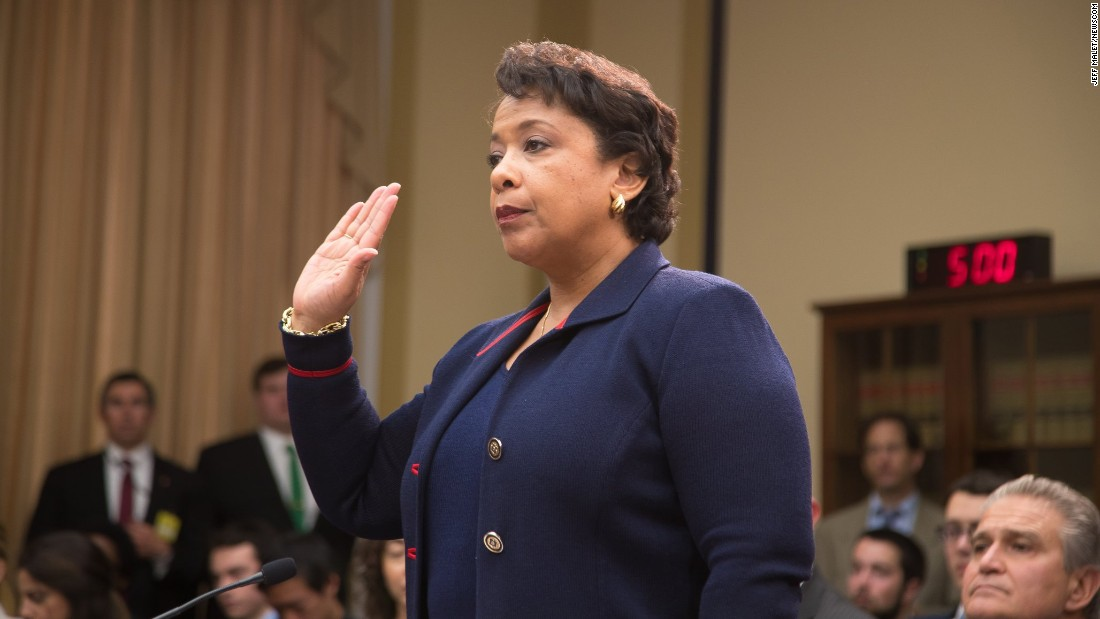 "U.S. Attorney General Loretta Lynch is sworn in before testifying before the House Judiciary Committee on Tuesday, July 12. <a href=""http://www.cnn.com/2016/07/12/politics/loretta-lynch-house-hearing-clinton-emails/"" target=""_blank"">Lynch faced questions from Republican lawmakers</a> regarding her recent decision not to prosecute Democratic presidential candidate Hillary Clinton over her use of a private email server."