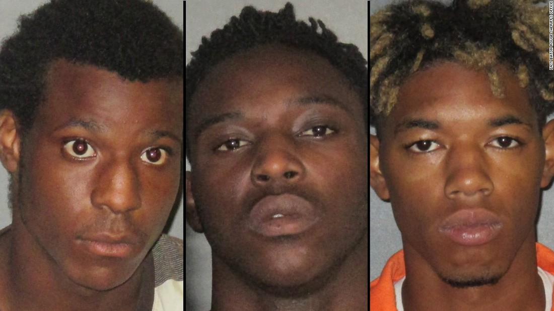 From left, Antonio Thomas, 17; Trashone Coats, 23; and Malik Bridgewater, 20, after their arrest for stealing guns they allegedly planned to use to kill police officers.