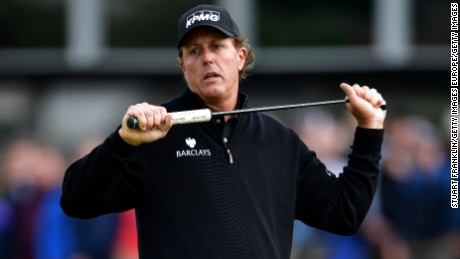 Mickelson's missed eagle putt on 16 was his last chance to catch Stenson.