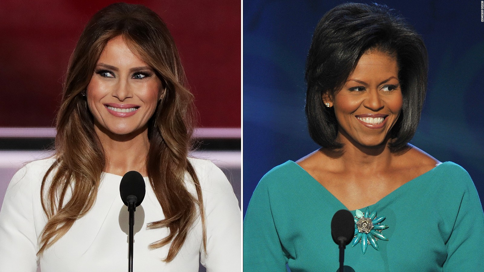 Side-by-side of Melania Trump, Michelle Obama speeches - CNN Video