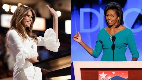 The other transition: from Michelle to Melania