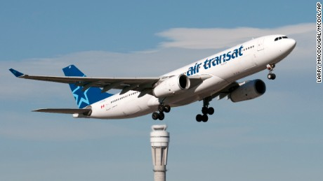 An Airbus A330 jetliner belonging to Air Transat takes off from Calgary, Alberta, in 2013.