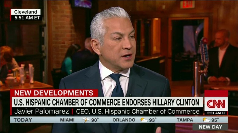 Hispanic Chamber of Commerce endorses Hillary Clinton