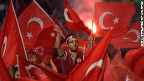 Erdogan's popularity a week after the failed coup