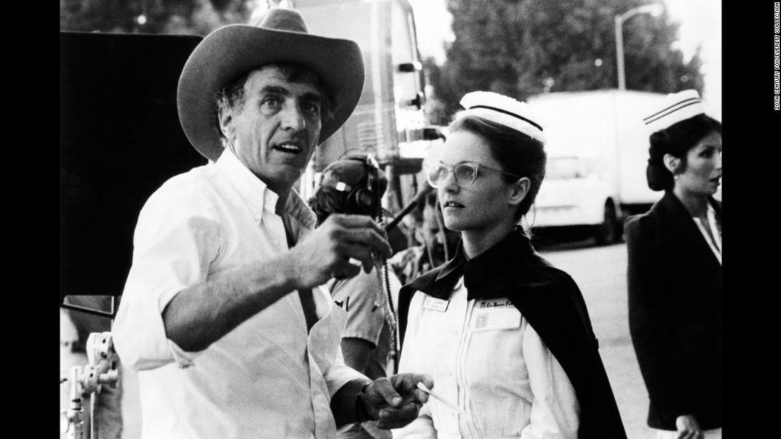 "Marshall directs Pamela Reed on the set of ""Young Doctors in Love"" in 1982."