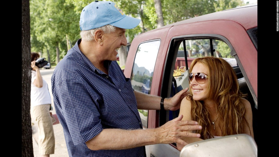 "Marshall with Lindsay Lohan on the set of ""Georgia Rule"" in 2007."