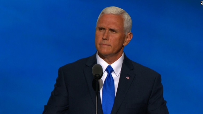 RNC crowd chants 'We like Mike' while Pence speaks