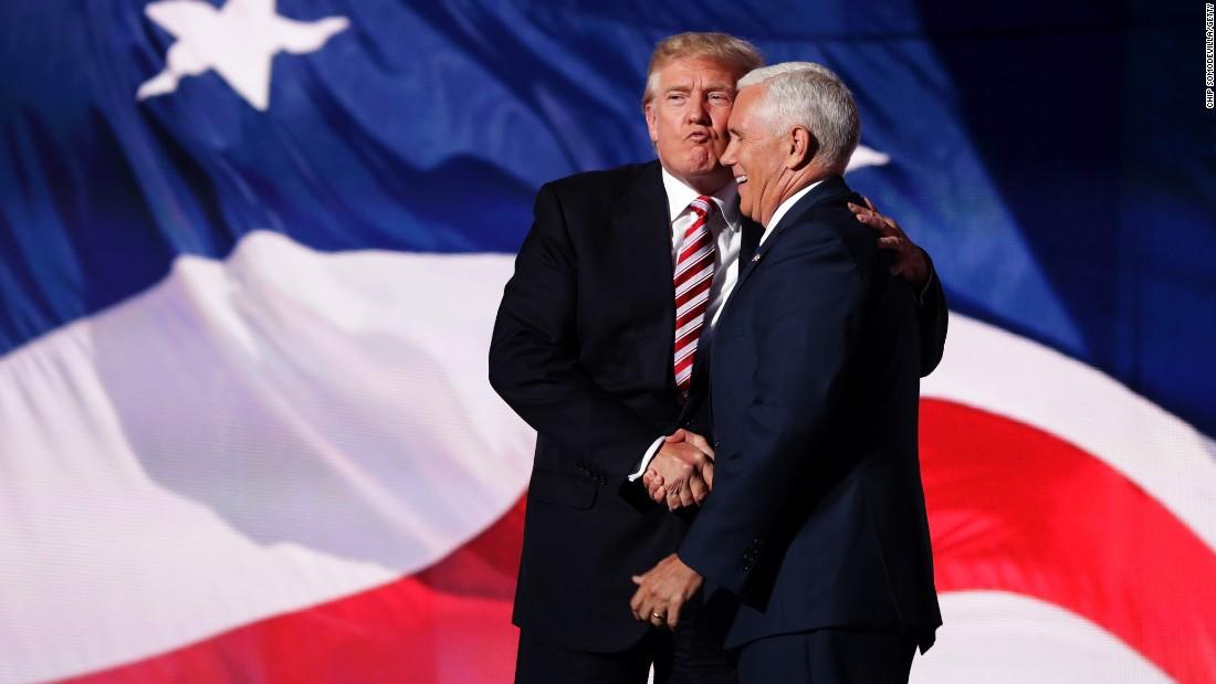 Donald Trump air kisses Mike Pence - CNNPolitics