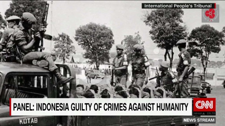 Tribunal: Indonesia guilty of crimes against humanity