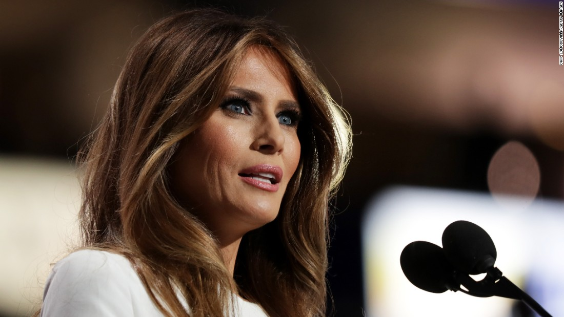 "Melania Trump, wife of presidential candidate Donald Trump, delivers a speech Monday, July 18, at the Republican National Convention. ""If you want someone to fight for you and your country, I can assure you, he's the guy,"" she said of her husband. Afterward, it was revealed that passages of the speech had been taken from Michelle Obama's 2008 speech at the Democratic National Convention. A speechwriter identified herself as the person responsible for the plagiarism, and <a href=""http://www.cnn.com/2016/07/20/politics/trump-aide-offers-resignation-in-melania-trump-plagiarism-incident/index.html"" target=""_blank"">she offered her resignation. </a>The Trumps did not accept. ""She made a mistake ... we all make mistakes,"" Donald Trump told ABC News."