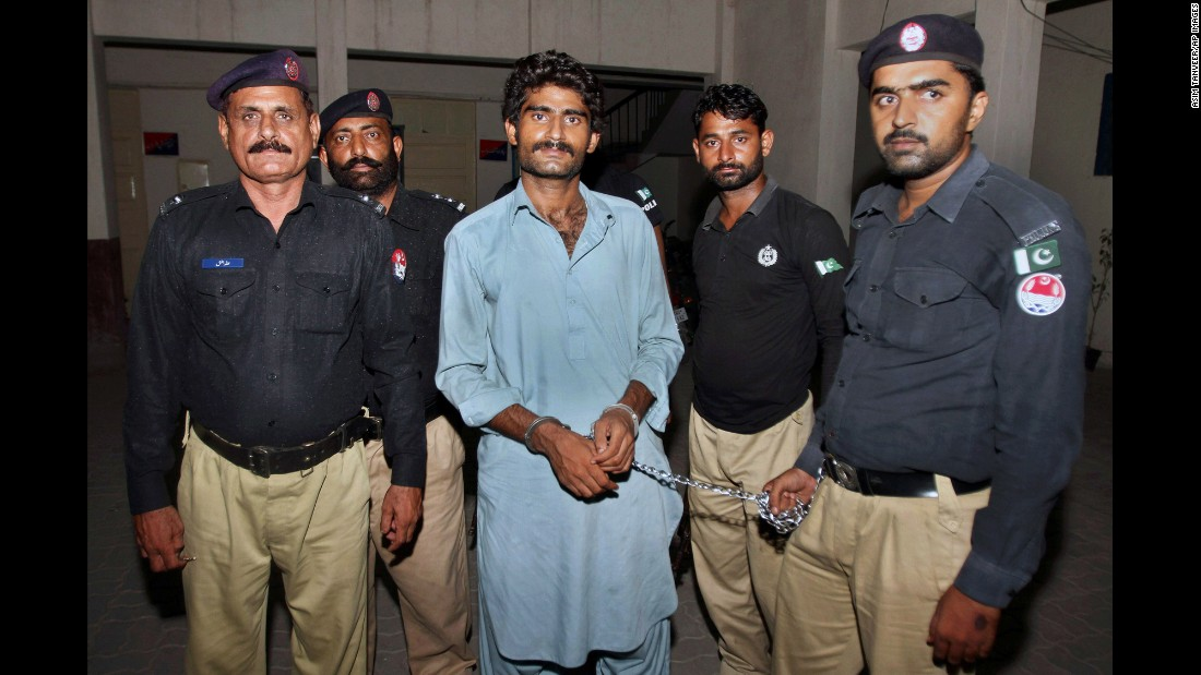 "Waseem Azeem, the brother of social media star Qandeel Baloch, is pictured with police after his arrest in Multan, Pakistan, on Sunday, July 17. He <a href=""http://www.cnn.com/2016/07/18/asia/pakistan-qandeel-baloch-brother-confession/"" target=""_blank"">confessed to killing his 25-year-old sister</a> because he said she was ""bringing dishonor"" to the family. Qandeel referred to herself as a ""modern-day feminist"" and had nearly 750,000 followers on Facebook."
