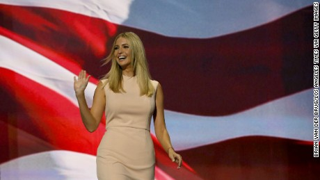 Ivanka Trump takes the stage during the final day of the 2016 Republican National Convention at Quicken Loans Arena in Cleveland, Ohio, July 21, 2016.