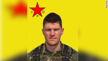 Image of deceased fighter Levi Jonathan Shirley released by the YPG.