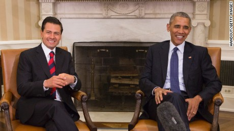 President Barack Obama meets with Mexican President Enrique Pena Nieto of Mexico at the White House on July 22, 2016 in Washington, D.C.