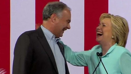Hillary Clinton: The next VP is Tim Kaine