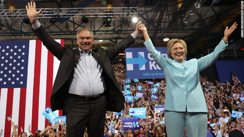 Clinton: Behind Kaine's smile is a backbone of steel