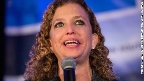 Rep. Debbie Wasserman Schultz speaks at a political gathering in Charleston, South Carolina in January..