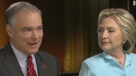 Hillary Clinton and Tim Kaine's first joint interview