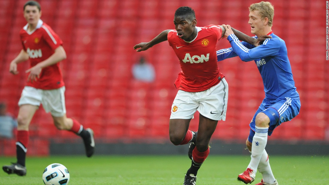 Pogba joined the youth ranks at United, where he began to earn a reputation as one of the club's most promising players.