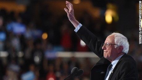 Former Presidential candidate and US Senator Bernie Sanders arrives to speaks during Day 1 of the Democratic National Convention at the Wells Fargo Center in Philadelphia, Pennsylvania, July 25, 2016.