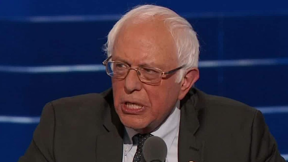 Bernie Sanders: 'I am proud to stand with her'