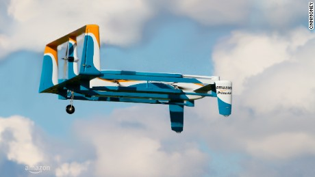 cnn money amazon drone