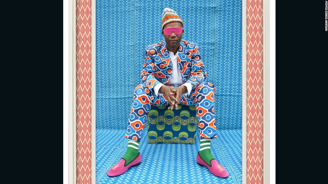 """The black dandy is someone who has a big character, who is quite flamboyant. It takes a very special person to dress up like that,"" says Hassan Hajjaj who was born in Morocco but moved to the United Kingdom when he was 13."