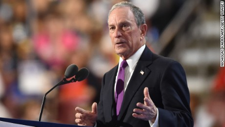 Michael Bloomberg speaks on the third evening session of the Democratic National Convention at the Wells Fargo Center in Philadelphia, Pennsylvania, July 27, 2016.