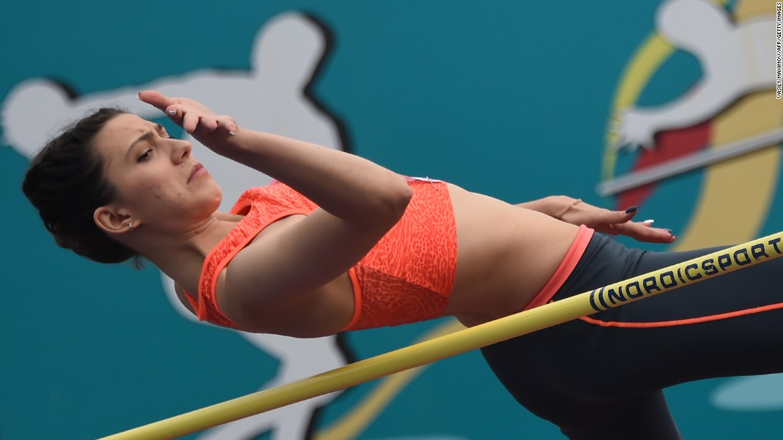 Mariya Kuchina also competed at Moscow's Znamensky Brothers stadium. She won high jump gold at the 2015 World Championships in Beijing.