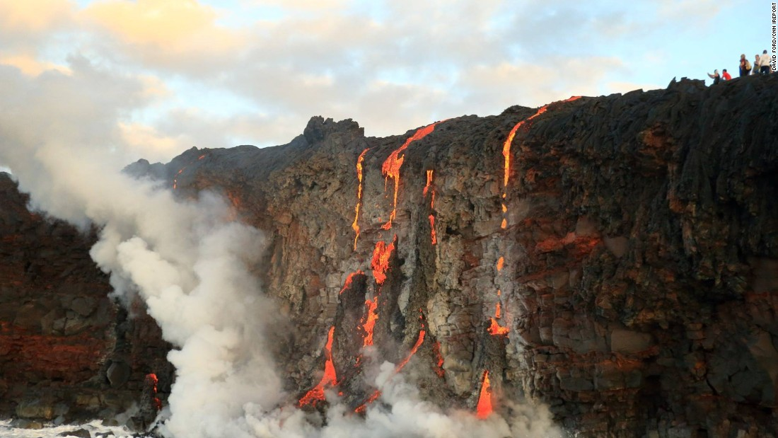 The USGS warns that it can be dangerous and even deadly to get too close to the lava flow.