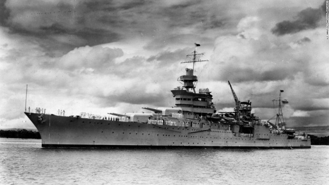 The USS Indianapolis, at Pearl Harbor in 1937, won 10 battle stars during World War II and delivered components of the atomic bomb that was dropped on Hiroshima, Japan. It was lost to a Japanese submarine on July 30, 1945, and about 800 men went into the sea. Only 316 survived<strong> </strong>the nearly five-day ordeal in the water.