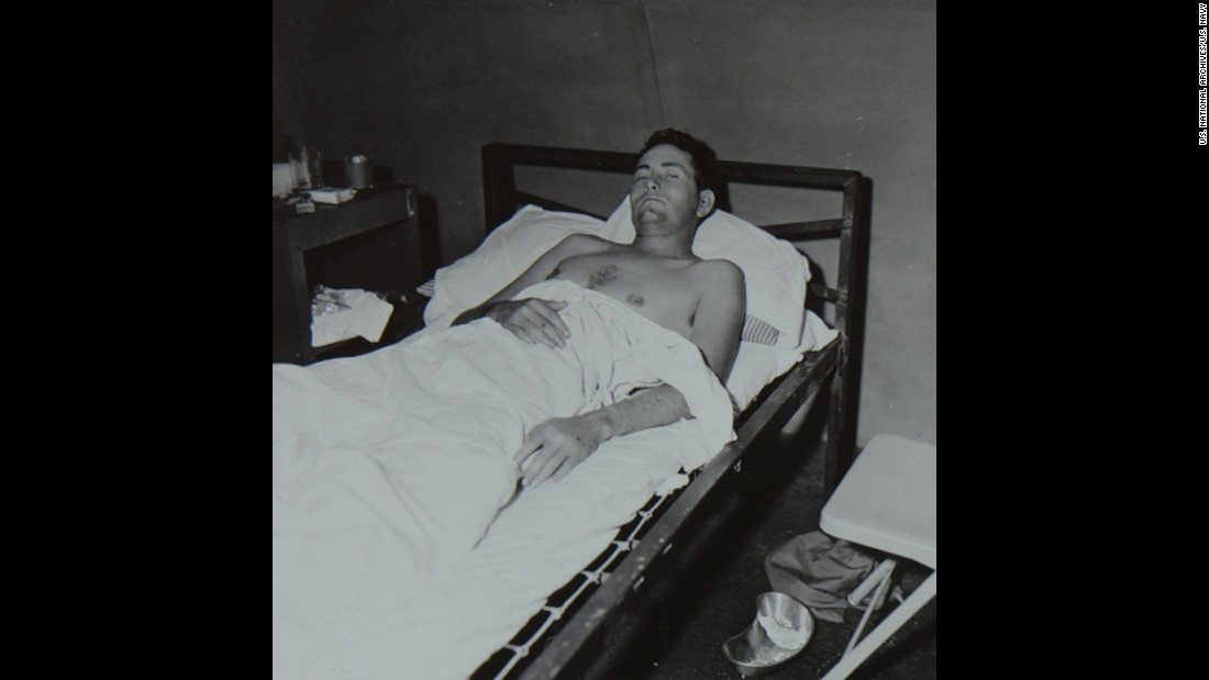 Navy Lt. Charles McKissick recuperates from the ordeal.