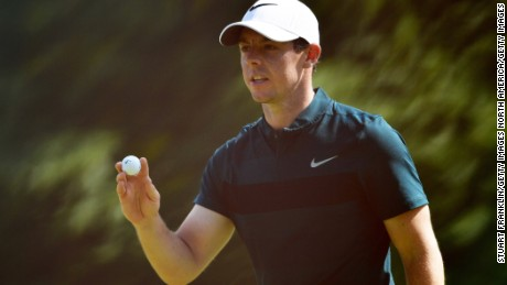 Rory McIlroy during the first round of the PGA Championship at Baltusrol Golf Club in Springfield, New Jersey, on July 28.