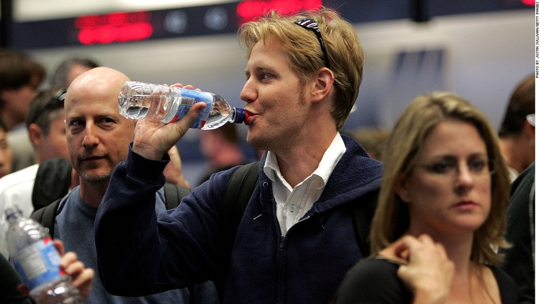 Beginning today, you won't be able to buy plastic bottles of water at San Francisco International Airport